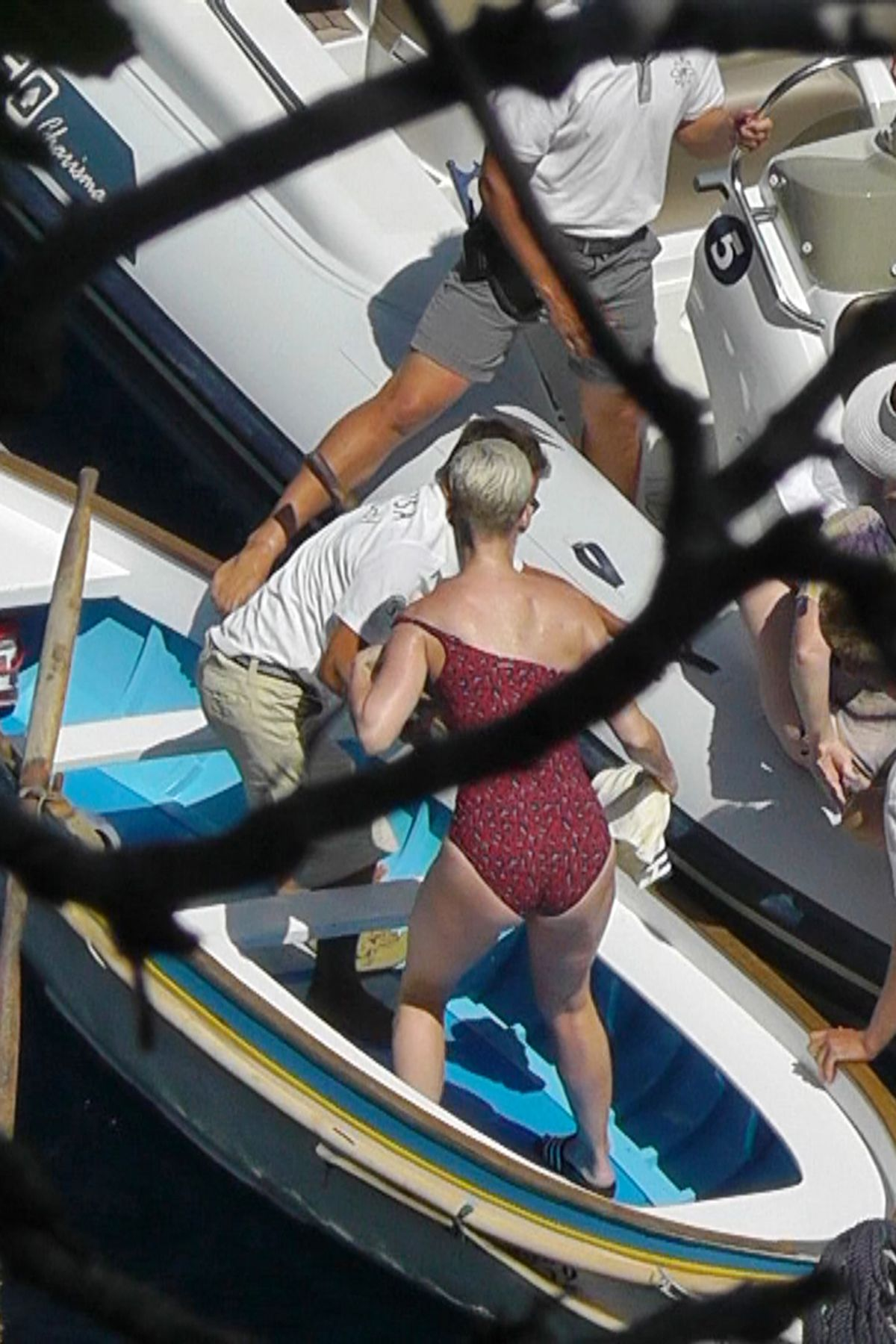 KATY PERRY in Swimsuit at a Yacht in Capri 07/09/2017