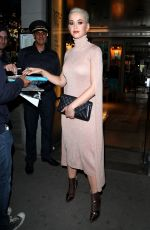 KATY PERRY Out and About at Haute Couture Fashin Week in Paris 07/03/2017