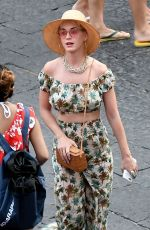 KATY PERRY Out and About in Amalfi 07/16/2017