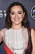 KEISHA CASTLE-HUGHES at Manhunt: Unabomber TV Show Premiere in New York 07/19/2017