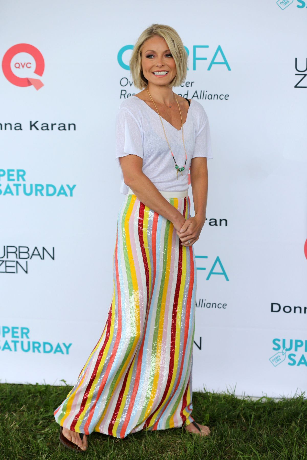 KELLY RIPA at Super Saturday to Benefit Ovarian Cancer in Bridgehampton 07/29/2017