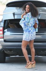 KELLY ROWLAND Out and About in Beverly Hills 07/16/2017
