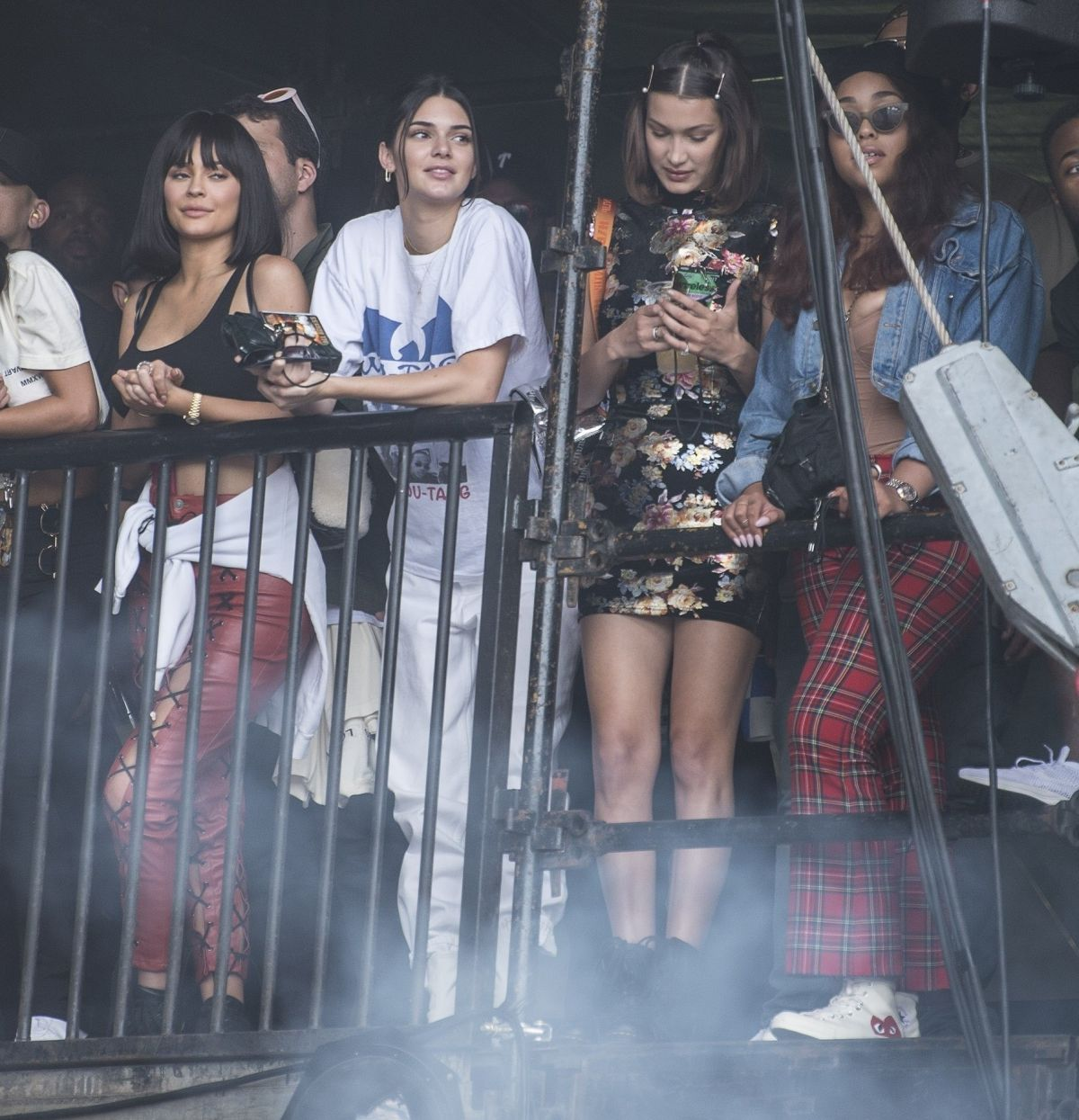 Kendall And Kylie Jenner Bella Hadid At Wireless Festival In London 07 08