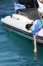 KENDALL JENNER and BELLA HADID at a Boat in Mykonos 07/08/2017