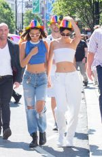 KENDALL JENNER and BELLA HADID at Pride Parade in London 07/08/2017