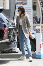 KENDALL JENNER in Jeans at a Gas Station in Beverly Hills 07/15/2017