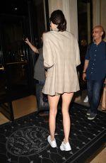 KENDALL JENNER Leaves Fendi Fashion Show in Paris 07/05/2017