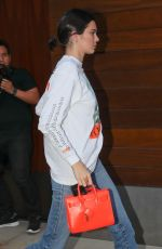 KENDALL JENNER Leaves Her Apartment in New York 07/29/2017