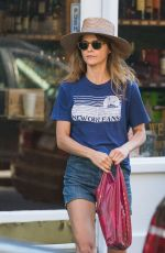 KERI RUSSELL in Denim Shorts Out Shopping in New York 07/09/2017