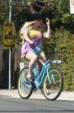 KESHA Out Riding a Bikes in Venice Beach 07/08/2017