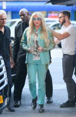 KESHA SEBERT Arrives at Z100 Studio in New York 07/18/2017