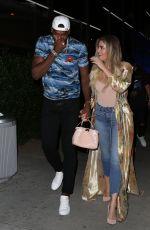 KHLOE KARDASHIAN at Boa Restaurant in Hollywood 07/14/2017