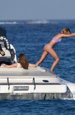 KIMBERLEY GARNER in Bikini at a Boat in St. Tropez 07/13/2017