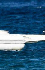 KIMBERLEY GARNER in Swimsuit on a Boat in St. Tropez 07/12/2017