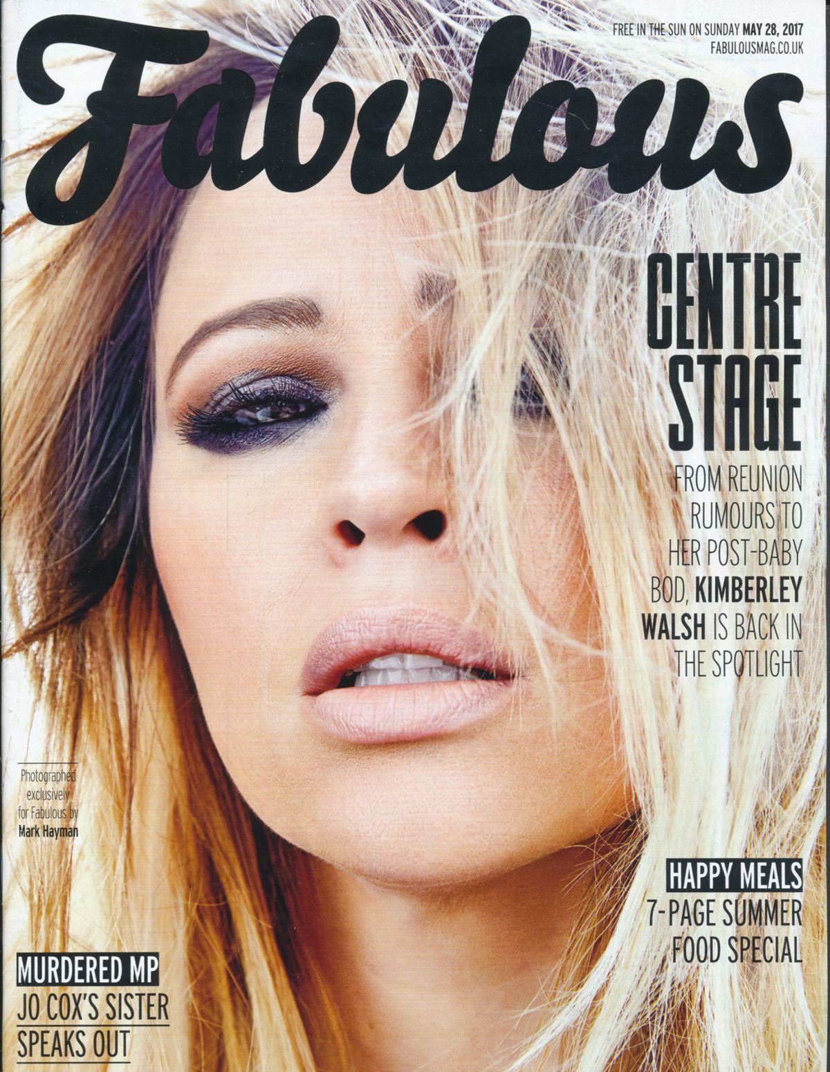 KIMBERLEY WALSH in Fabulous Magazine, May 2017
