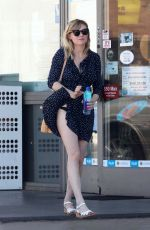 KIRSTEN DUNST on Windy Day at Gas Station in Los Angeles 07/12/2017