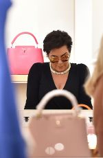 KRIS JENNER Out and About in Portofino 07/08/2017