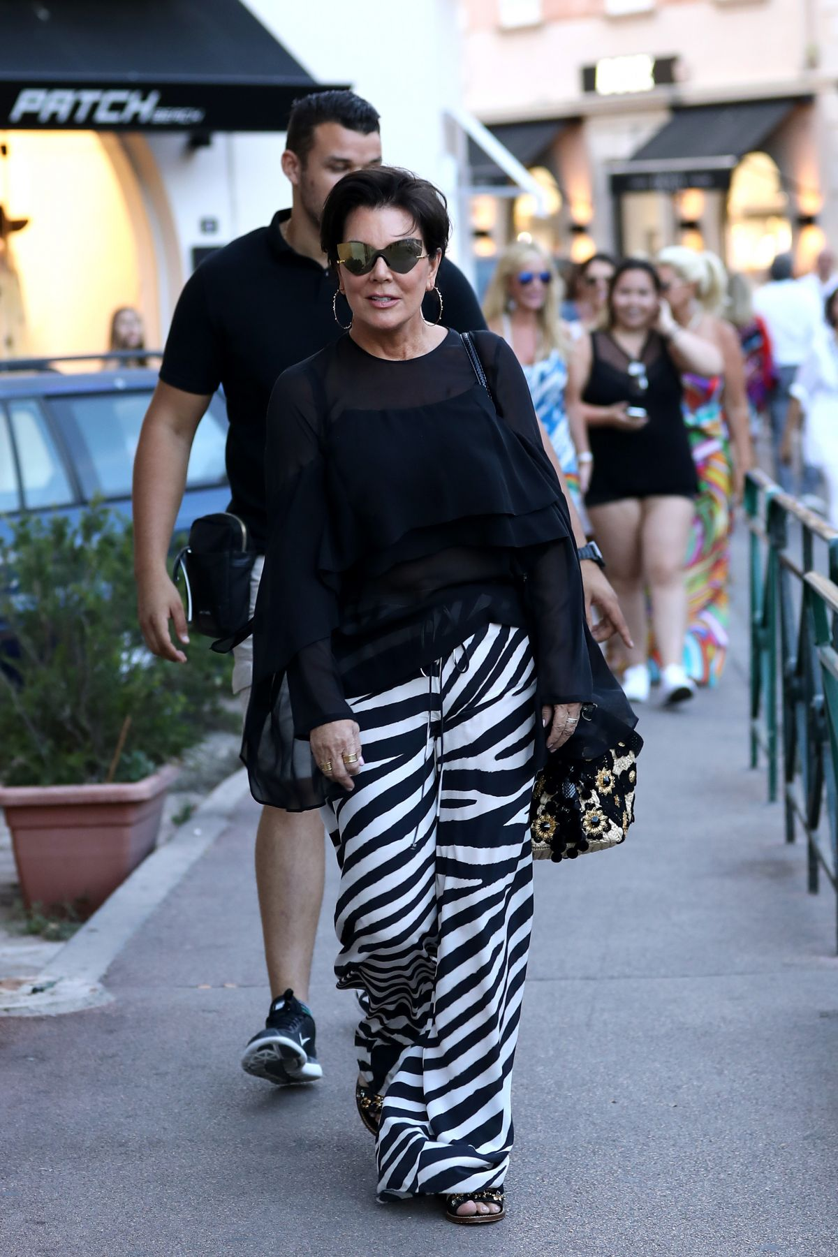 KRIS JENNER Out Shopping in Saint Tropez 07/10/2017