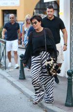 KRIS JENNER Out Shopping in Saint Tropez 07/10/2017