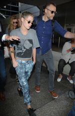 KRISTEN STEWART and STELLA MAXWELL at Los Angeles International Airport 07/07/2017