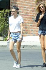KRISTEN STEWART and STELLA MAXWELL Out and About in Los Angeles 07/09/2017