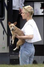 KRISTEN STEWART Out with Her Dog in Winnipeg 07/21/2017