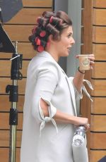 KYM MARSH on the Set of Coronation Street in Manchester 07/19/2017