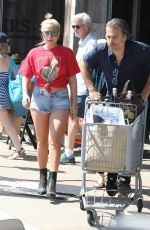 LADY GAGA and Christian Carino Shopping at Vintage Grocers in Malibu 07/02/2017