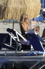LADY VICTORIA HERVEY and HOFIT GOLAN in Bikinis on the Beach in Cannes 07/09/2017