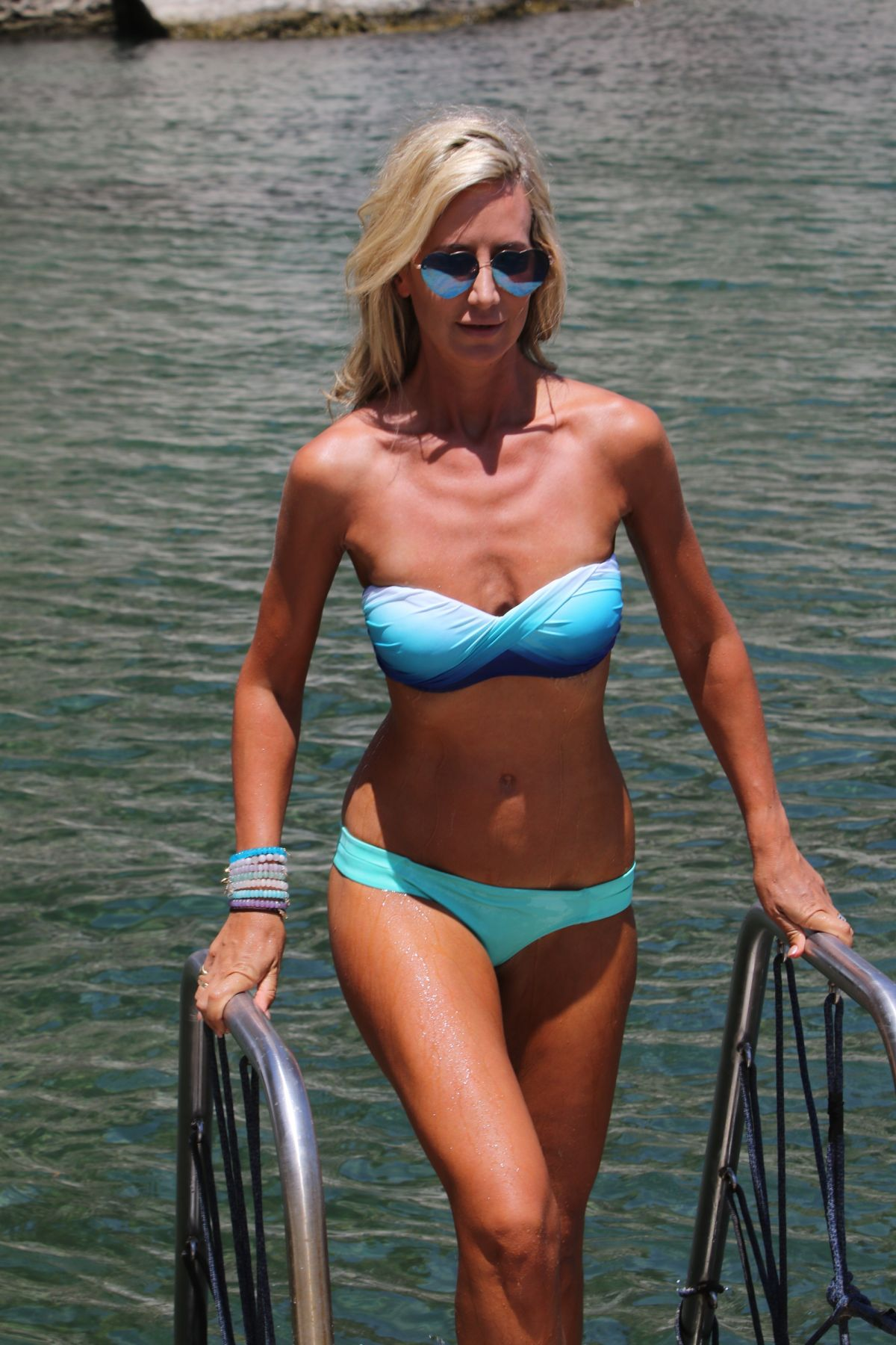 LADY VICTORIA HERVEY in Bikini at a Beach in Naples 07/10/2017