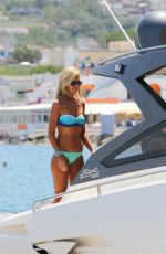 LADY VICTORIA HERVEY in Bikini at a Boat in Naples 07/10/2017