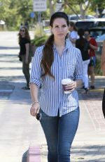 LANA DEL REY Out for Coffee in Los Angeles 07/04/2017