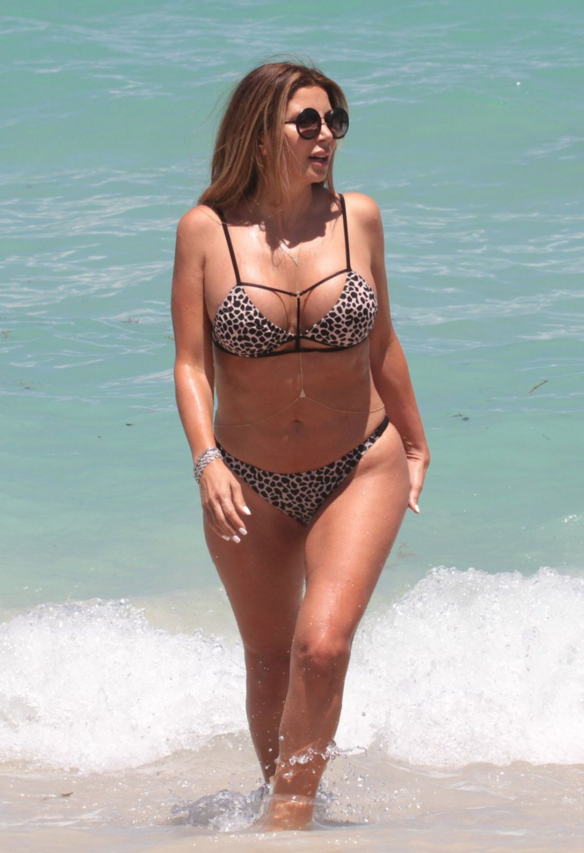 LARSA PIPPEN in Bikini on the Beach in Miami 07/01/2017
