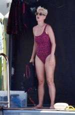 KATY PERRY in Swimsuits Out on Vacation in Italy 07/11/2017