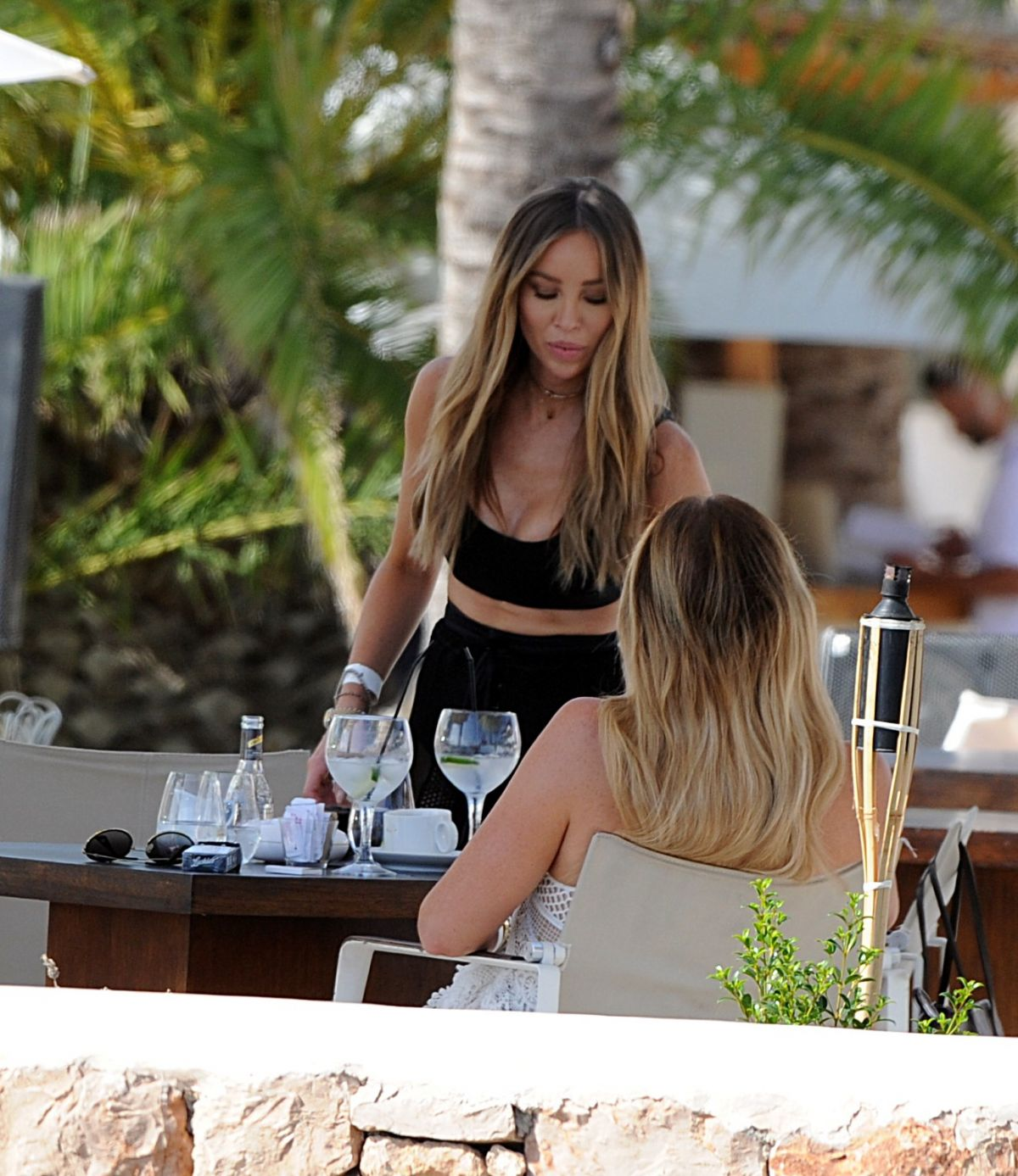 LAUREN POPE and BAMBI HAINES on Vacation in Ibiza 07/26/2017