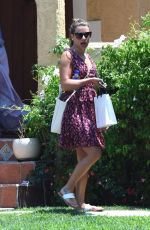 LEA MICHELE at a Gas Station in West Hollywood 07/10/2017