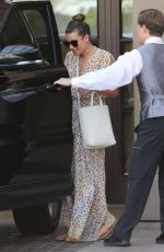 LEA MICHELE Leaves Montage Beverly Hills Hotel in Los Angeles 07/05/2017