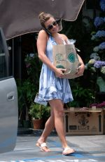 LEA MICHELE Shopping at Whole Foods Market in Brentwood 07/13/2017