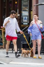 LENA DUNHAM Out with Her Dogs in New York 07/07/2017