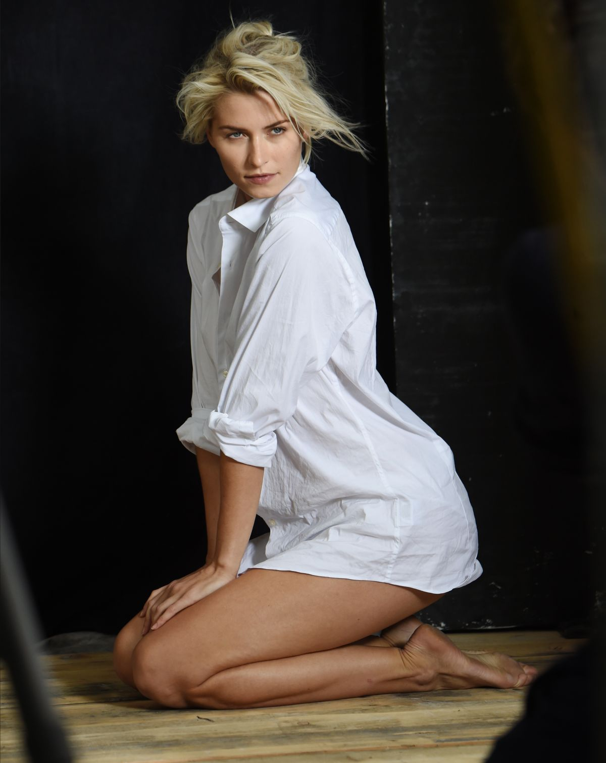 LENA GERCKE on the Set of a Photoshoot for Joop in Munich 06/24/2017