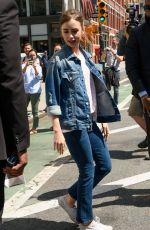 LILY COLLINS Leaves AOL Build in New York 07/26/2017