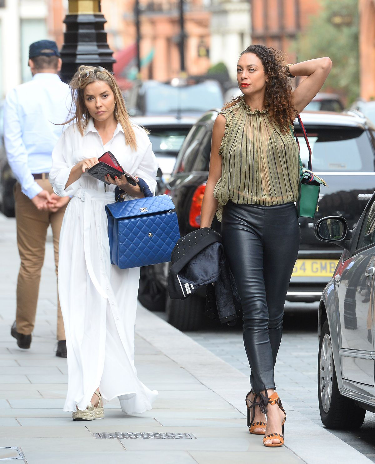 LILLY BECKER and ELEN RIVAS Out Lunch in London 07/18/2017