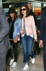 LILY COLLINS Arrives at Charles De Gaulle Airport in Paris 07/02/2017