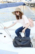 LILY COLLINS Arrives in Ischia for Ischia Global Fest 07/14/2017