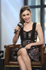 LILY COLLINS at AOL Build Show in New York 07/26/2017