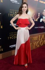 LILY COLLINS at The Last Tycoon Premiere in Los Angeles 07/27/2017