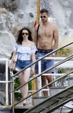 LILY COLLINS in Swimsuit at a Beach in Ischia 07/18/2017