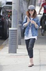 LILY COLLINS Leaves a Gym in Beverly Hills 07/09/2017