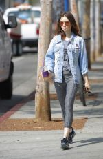 LILY COLLINS Leaves a Gym in Beverly Hills 07/13/2017