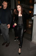 LILY COLLINS Out and About at Haute Couture Fashion Week in Paris 07/03/2017